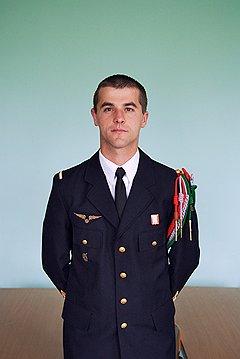 Микаэль Сержан, сержант. На войне погиб его дед, который был участником партизанского движения Сопротивления