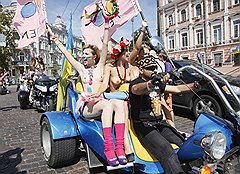 Август 2010 года. Совместная акция с байкерами в День независимости Украины — «Независимость — это мы!», «Независимость — праздник свободных»