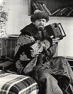 И. Гневашев. Юрий Яковлев на съемках фильма Иван Васильевич меняет профессию. 1972 г.
