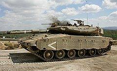 Начиненные новейшей аппаратурой, израильские танки «Меркава» высоко котируются в мире