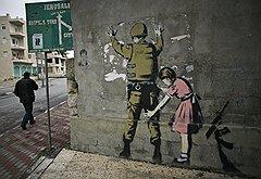 Настенные произведения Бэнкси стоят уже дороже, чем сами стены (работы сделаны в Англии, Франции, Палестине)