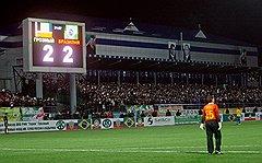 Когда на 22-й минуте чеченская команда сравняла счет, стадион ликовал