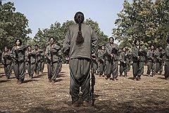 Сбор женского партизанского отряда