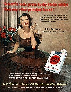 Реклама объясняла, что курить — это роскошно и эротично