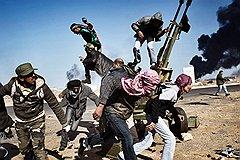 Юрий Козырев. Повстанцы 11 марта в битве за город Рас-Лануф, Ливия