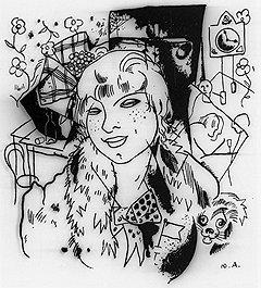 """Представители """"дна"""" были самыми активными потребителями кокаина. Иллюстрация Юрия Анненкова к поэме """"Двенадцать"""" -— Катька"""