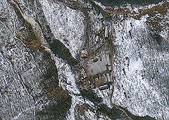 Спутниковая съемка предполагаемого ядерного полигона КНДР в провинции Северная Хамген
