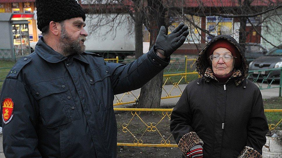 Казаки-дружинники уже мелькают на московских улицах