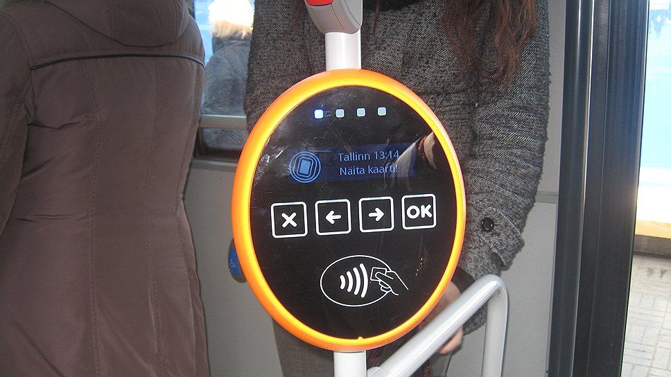 """Так выглядит валидатор — устройство, считывающее """"электронные проездные"""" на расстоянии. Скоро оно станет единым для Таллина, Хельсинки и, возможно, Санкт-Петербурга"""