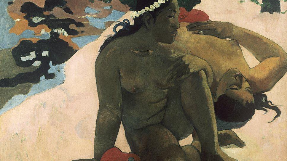 """Поль Гоген. """"А, ты ревнуешь?"""", 1892 (ГМИИ)"""