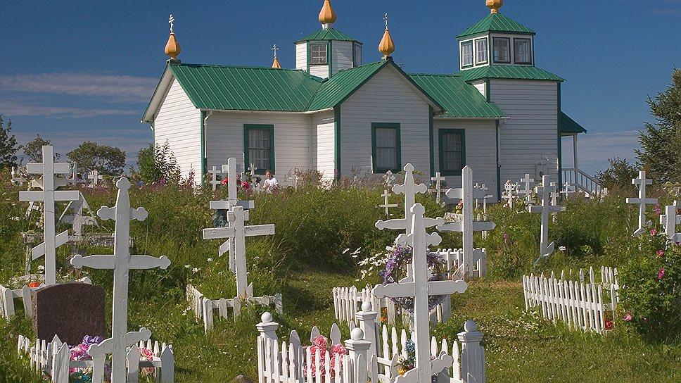 Русская церковь на Аляске, построенная русскими колонистами