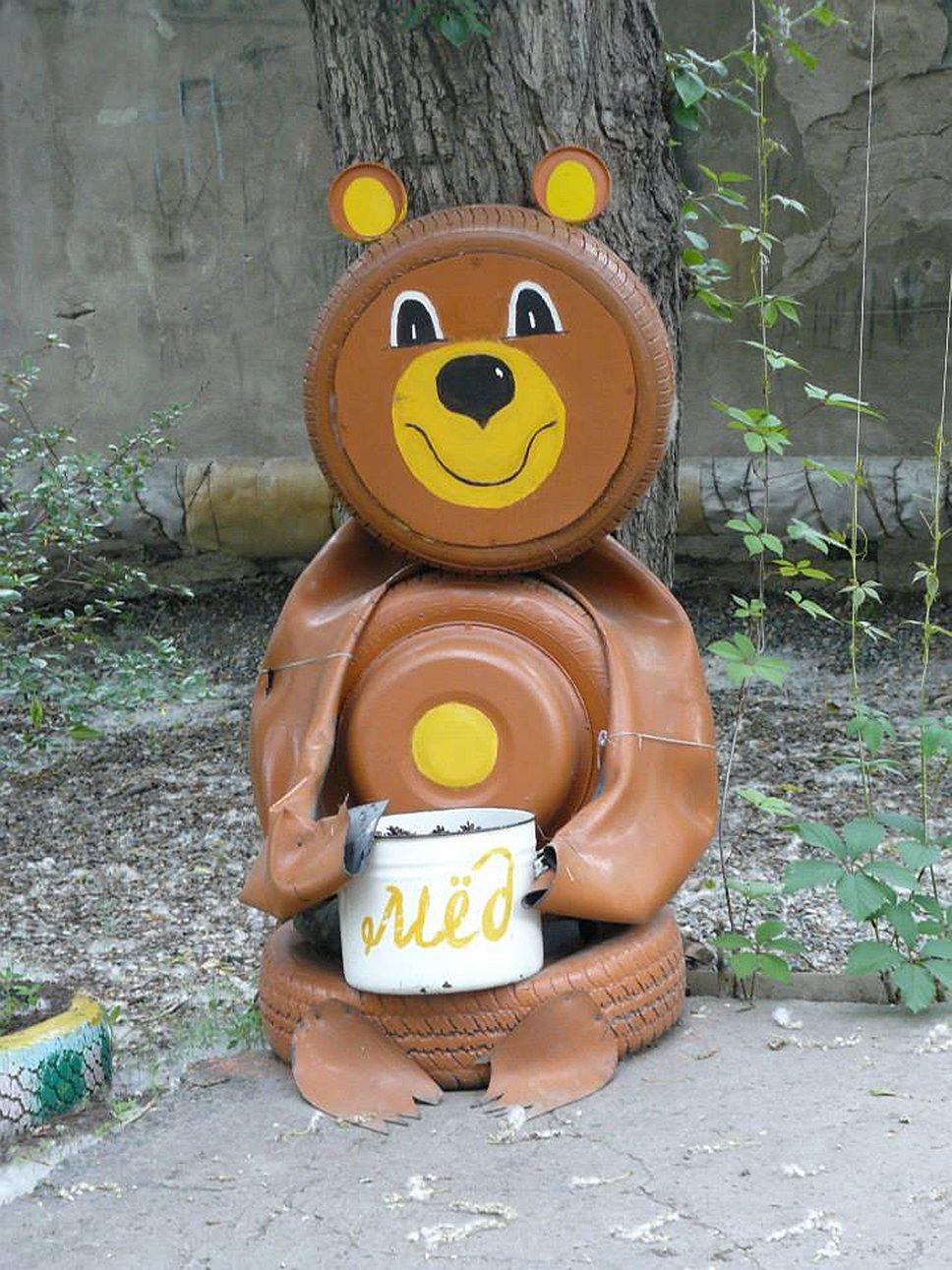 Такие медведи водятся в городе Бийске Алтайского края