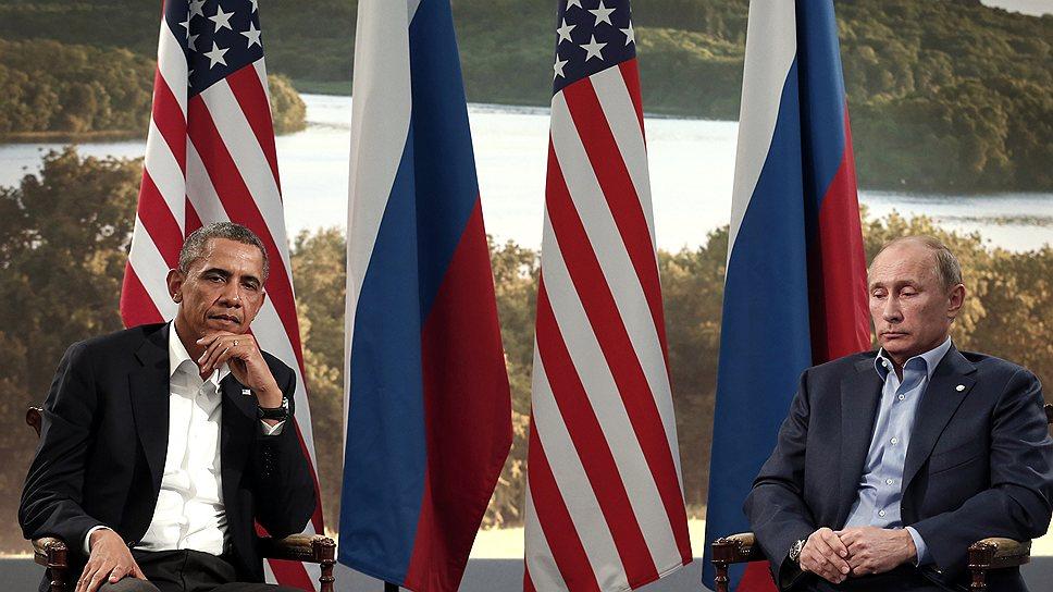 """Президенты РФ и США на июньской """"восьмерке"""" в Северной Ирландии. Сразу понятно: разговор не клеился и без """"дела Сноудена"""""""