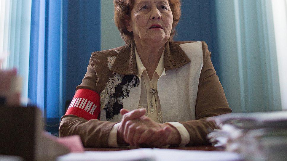 Надежда Шилина, командир отряда дружинниц
