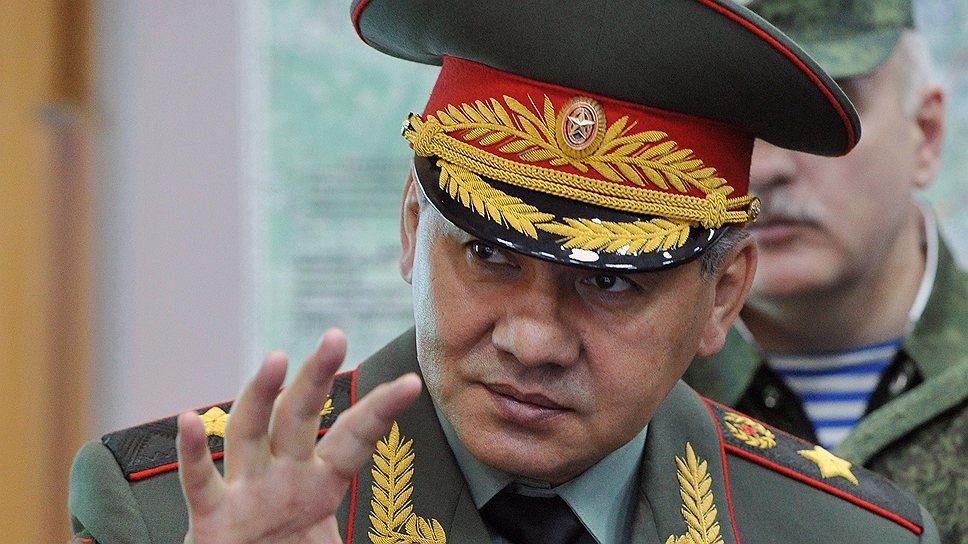 Глава военного ведомства Сергей Шойгу