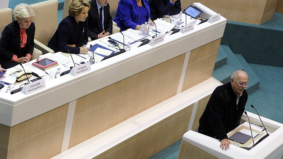 Никита Михалков, выступая в Совете федерации по случаю грядущего года культуры, назвал возрождение идеологии вопросом национальной безопасности