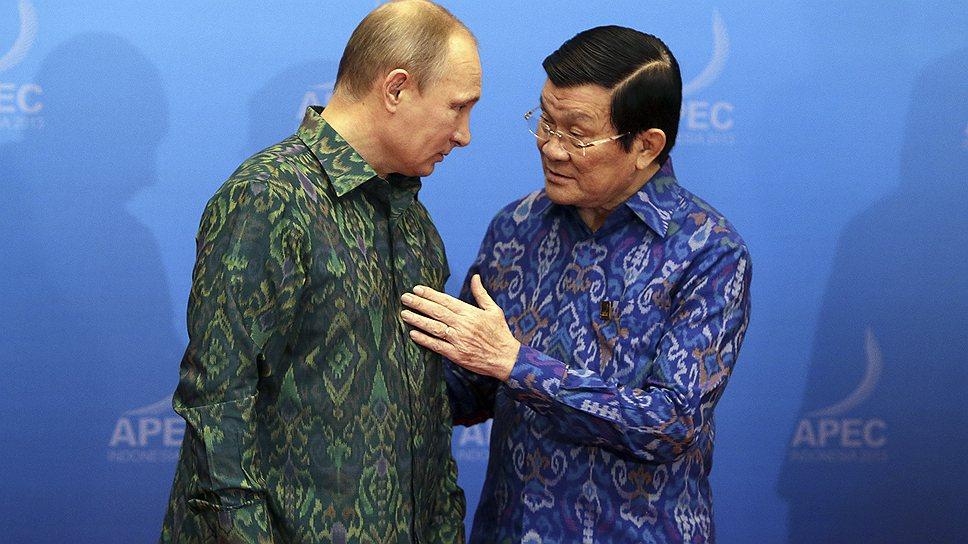 Вьетнамцу и русскому легко понять друг друга. Президенты России и Вьетнама во время недавнего саммита АТЭС на Бали (Индонезия)