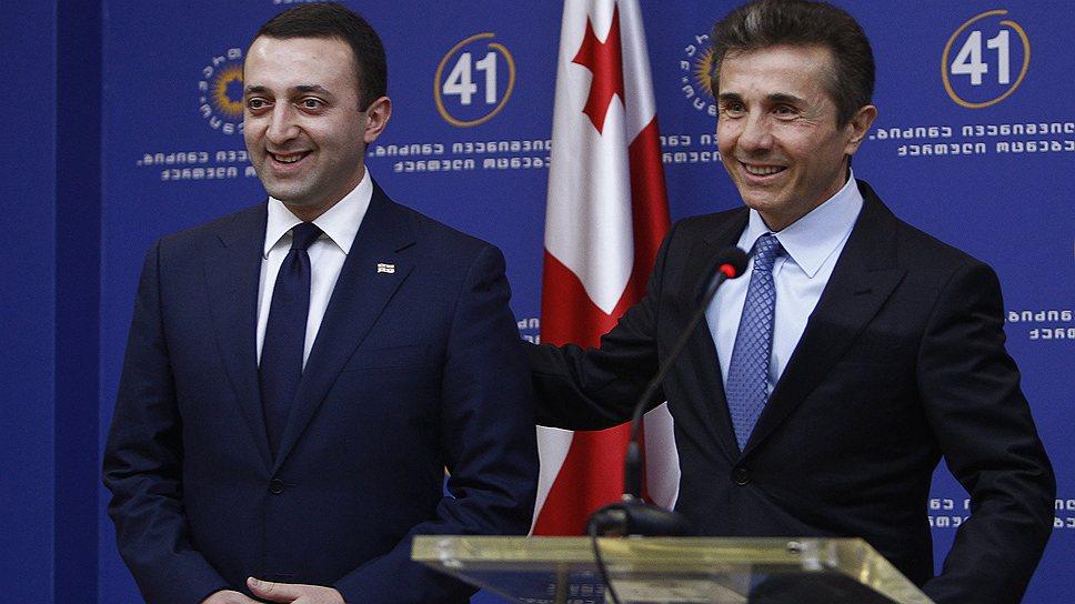 Ираклий Гарибашвили (слева) стал преемником Бидзины Иванишвили на посту премьер-министра