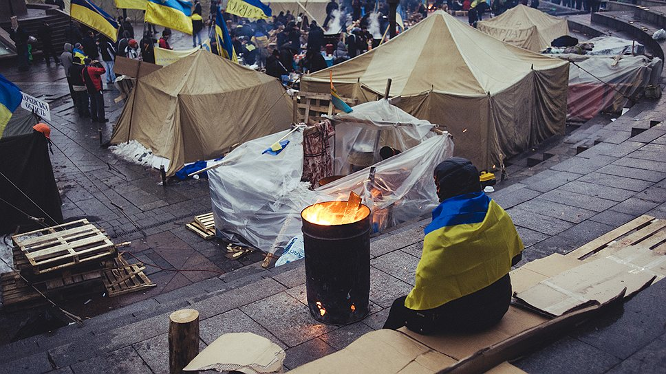 Протестующие думают, что примерно так и выглядела Запорожская сечь