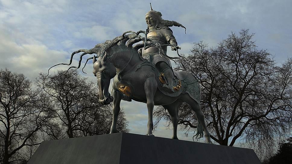 Конная статуя Чингисхана, установленная в Лондоне, вызвала жаркие споры и в то же время принесла автору грандиозный успех