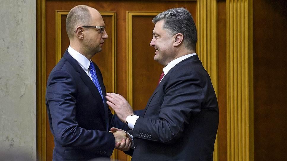 После выборов главной интригой украинской политики может стать противостояние Петра Порошенко и Арсения Яценюка