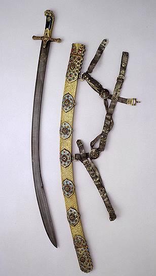 Сабля в ножнах с поясом. Иран, первая половина XVII века