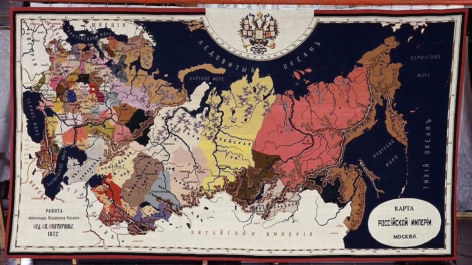 """""""Карта Российской империи"""". Московское училище ордена Святой Екатерины, 1872 год"""