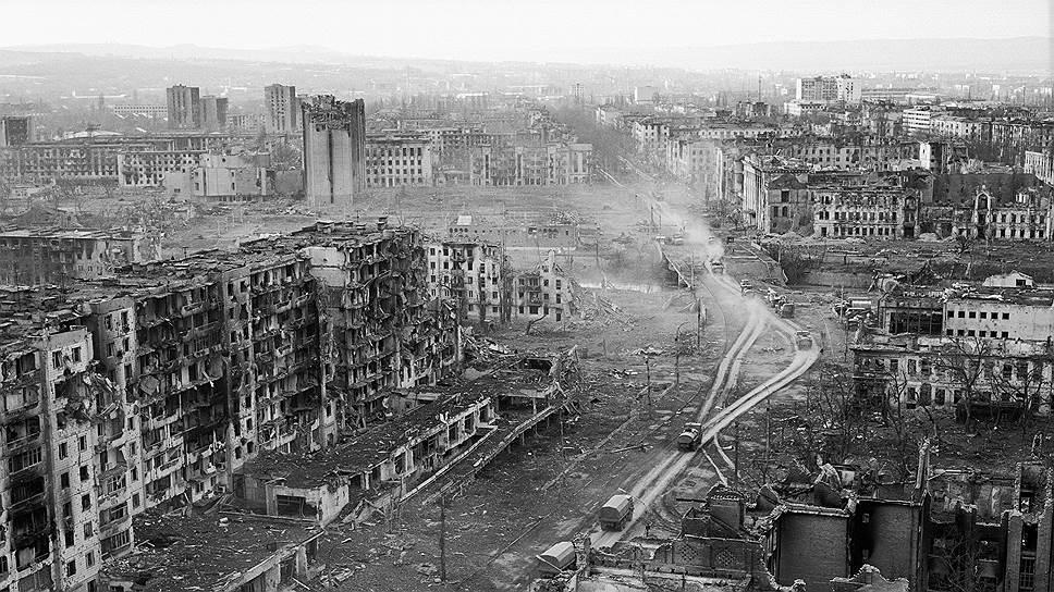 Так выглядел Грозный после ухода боевиков. 1995 год