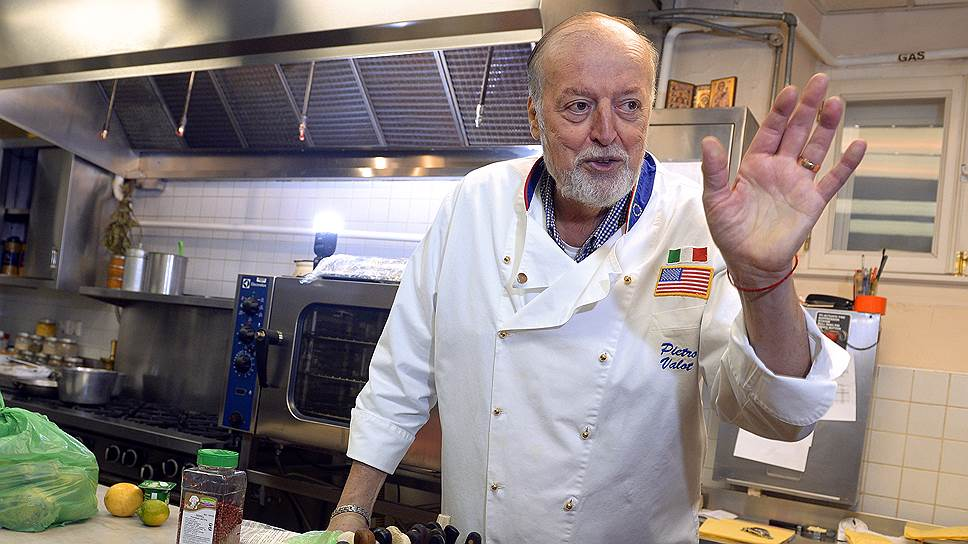 Шеф-повар Пьетро Валота 40 лет назад приехал в Москву из Венеции работать на американцев