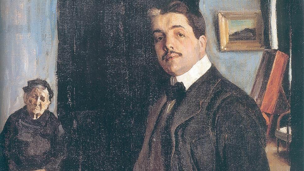 """""""Портрет С.П. Дягилева с няней"""". 1906"""
