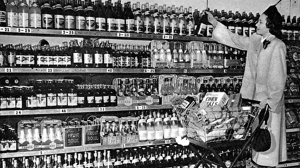Так потребительский рай американского супермаркета выглядел уже в 1948-м: с тех пор изобилия на прилавках этих магазинов меньше не стало