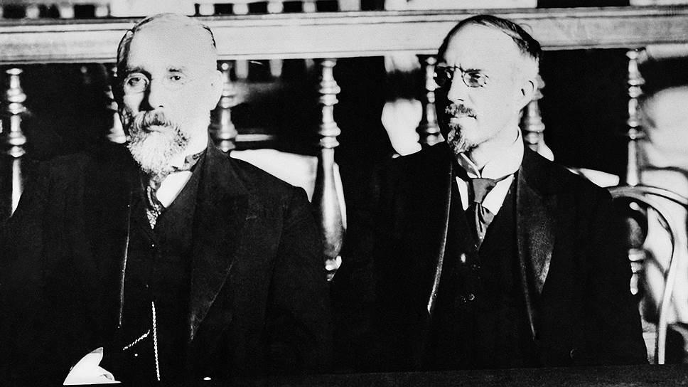 Финансист и промышленник Павел Рябушинский (справа) оказался инициатором создания Военно-промышленных комитетов