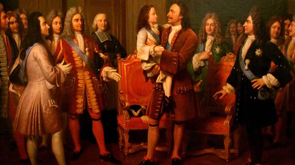 Во время аудиенции Петр взял семилетнего Людовика XV на руки и расцеловал, чем шокировал свиту последнего. И вдохновил несколько поколений живописцев