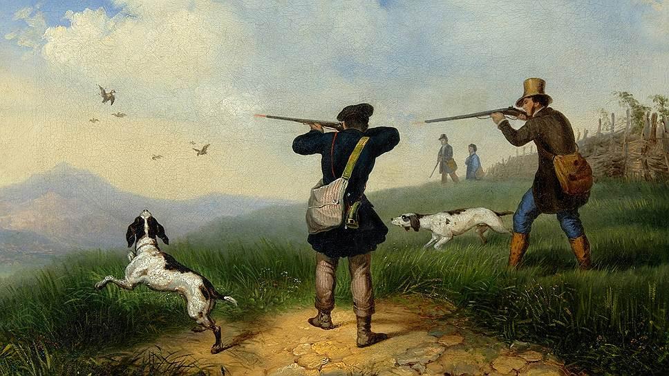 "Петр Солдаткин. ""На охоте"". 1848"