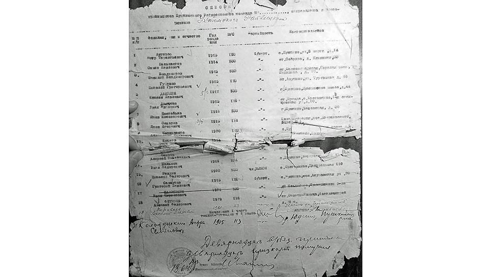 Вот в таком состоянии хранятся документы времен войны