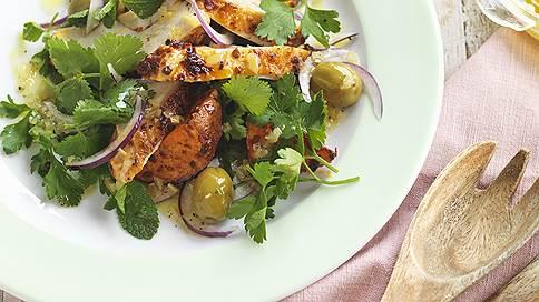 Правило трех // Гелия Делеринс превращает простую курицу в нетривиальный салат