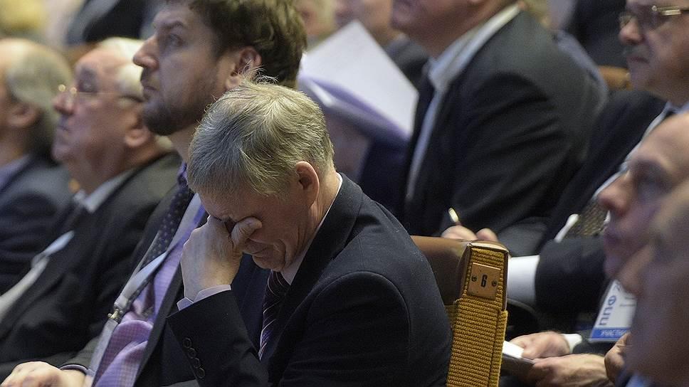 В России прошел первый профессорский форум. На фото — его участники в Российском университете дружбы народов