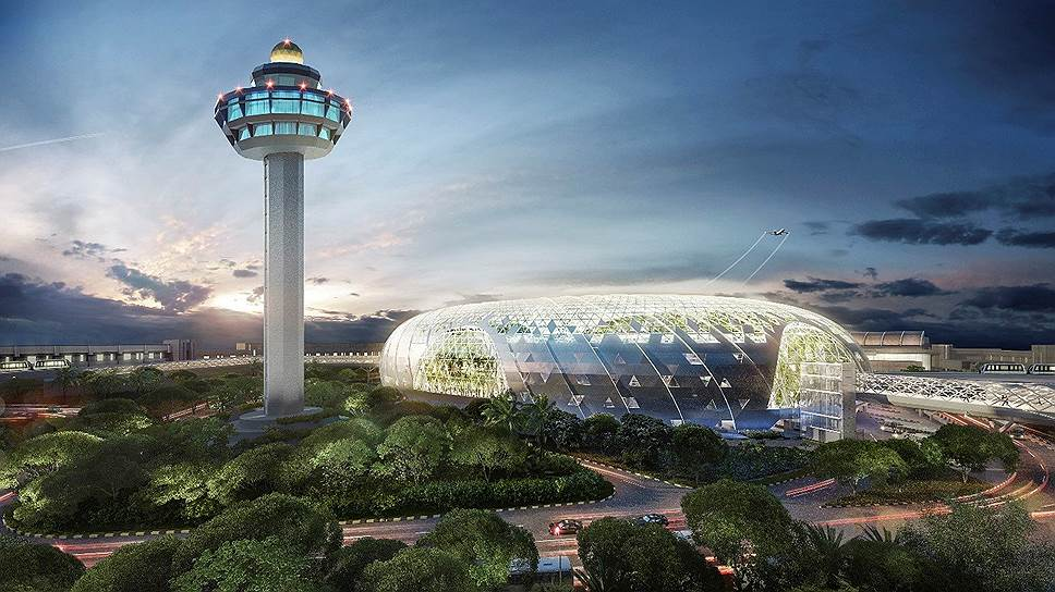 Так— пока на макетах— выглядит зона отдыха аэропорта Чанги в Сингапуре. Реальностью она станет в 2019-м