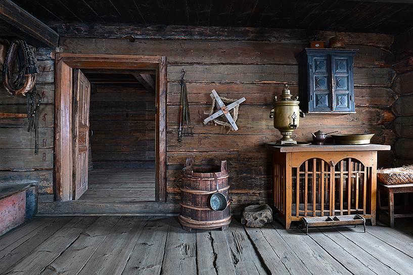 Интерьеры крестьянских домов тщательно восстановлены