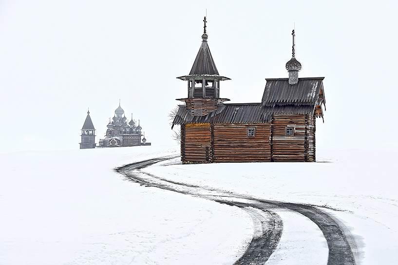 Часовню Архангела Михаила перевезли на Кижи из деревни Леликозеро в 1961году