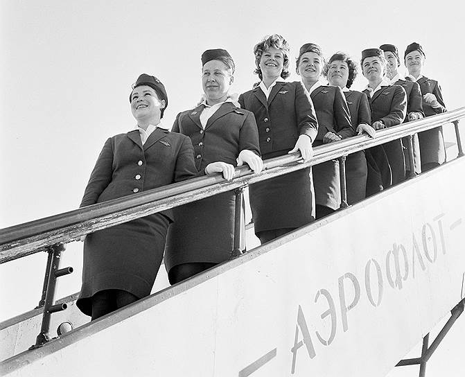 Униформу для стюардесс впервые утвердили в 1954 году