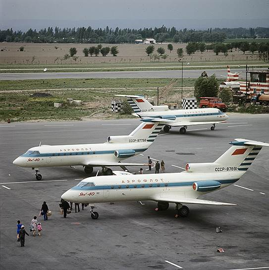 Слабо загруженные воздушные линии СССР успешно поддерживали небольшие Як-40