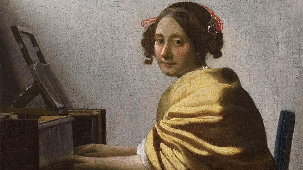 """Ян Вермеер Делфтский. """"Девушка за верджинелом"""". Около 1670-1672 годов"""