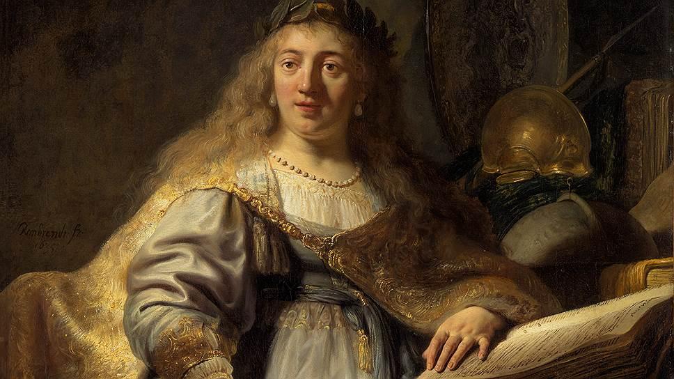 "Рембрандт Харменс ван Рейн. ""Минерва"". 1635год"
