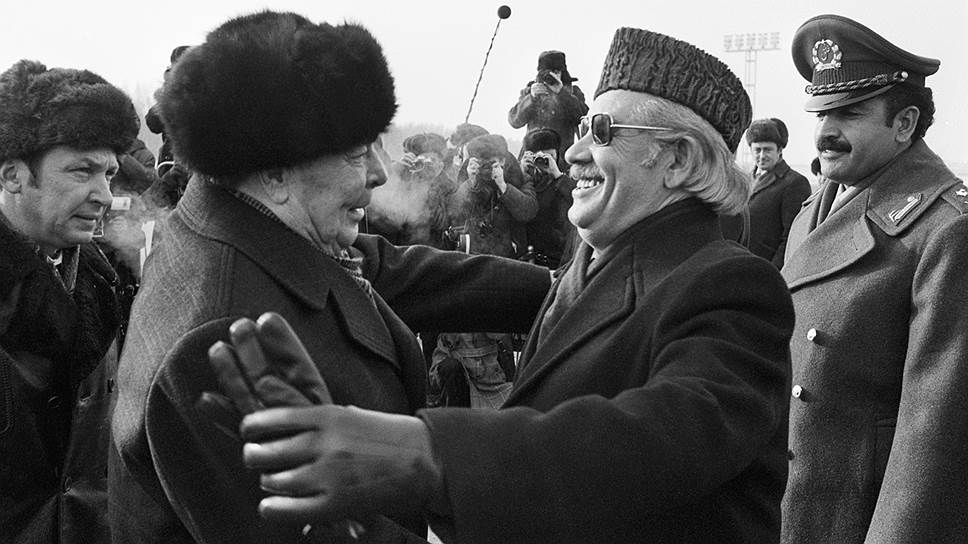 Премьер-министр ДРА Нур Мухаммед Тараки и генсек ЦК КПСС Леонид Брежнев. 4 декабря 1978 года
