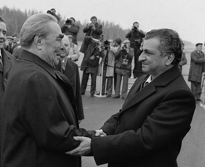 Два генсека — ЦК КПСС и ЦК Народно-демократической партии Афганистана. Брежнев и Кармаль. 16 октября 1980 года