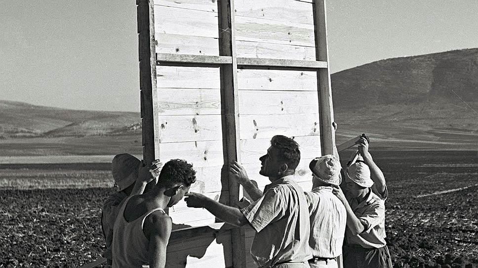 Израиль как государство возник из ничего. 1946год: еврейские переселенцы основывают кибуц на севере подмандатной Британии Палестины, которая через пару лет станет Израилем