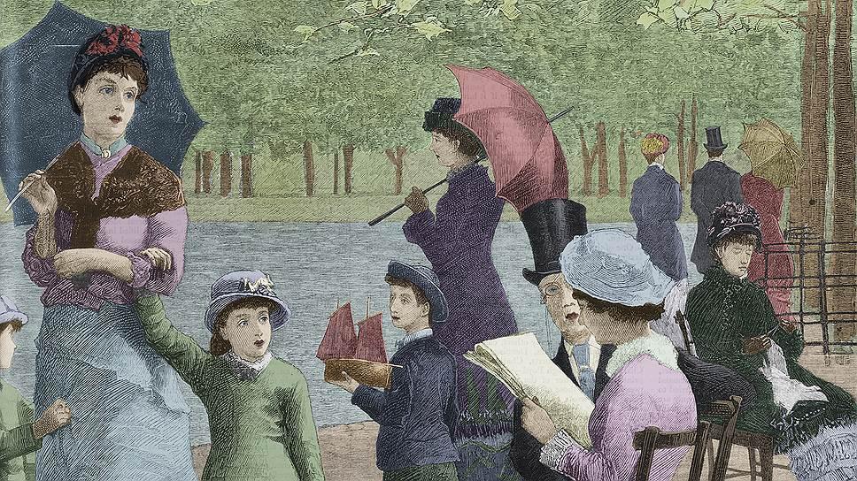 И сто лет назад, и сейчас женский журнал в руках у дамы— признак того, что за модой она наверняка успевает