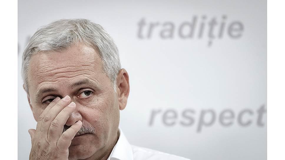 Лидер социал-демократов Ливиу Драгня— глава правящей партии. Но приговорен к 3,5года тюрьмы