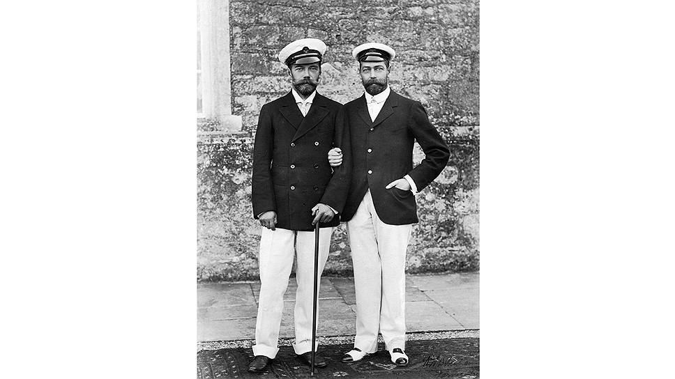 Двоюродные братья казались близнецами: Николай II и Георг V. 1913